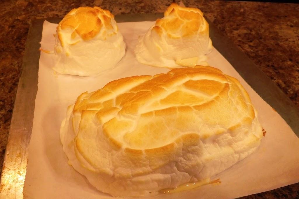 Baked Alaska (built on Lemon Cake)
