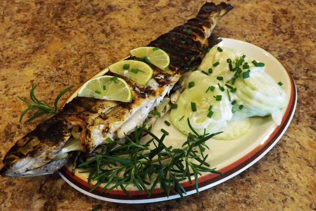 Grilled Stuffed Lake Trout