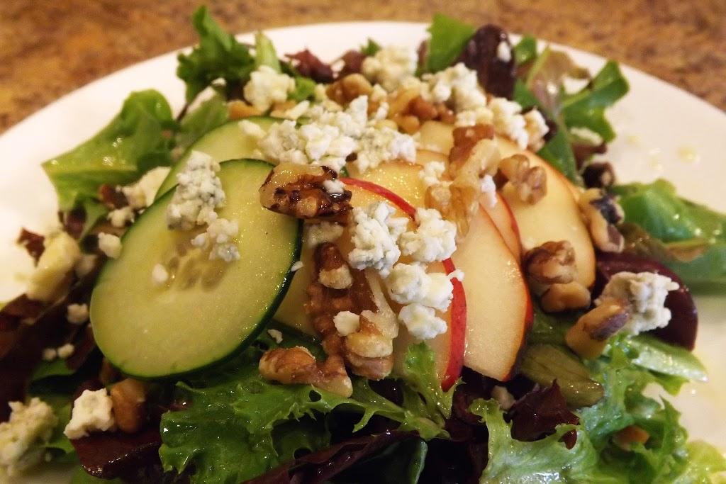 Walnut-Pear Bleu Cheese Salad