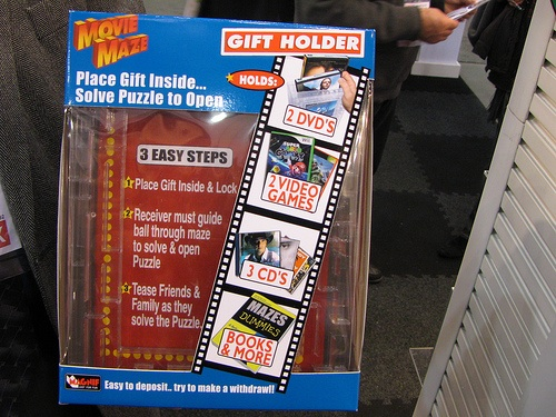 Solve puzzles before you can open a DVD, CD, book, money…