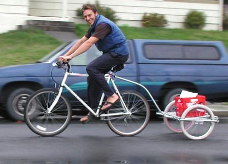 Backpack bike trailer