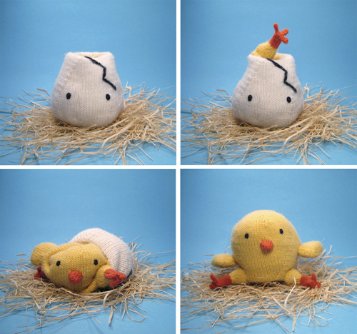 Knit Chicken N' Egg Reversible Toy
