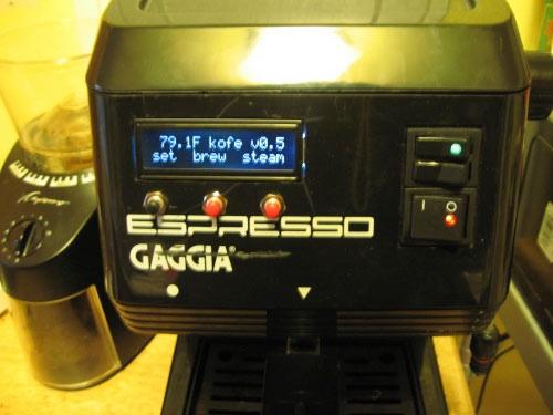Ardiuno-controlled Gaggia espresso machine