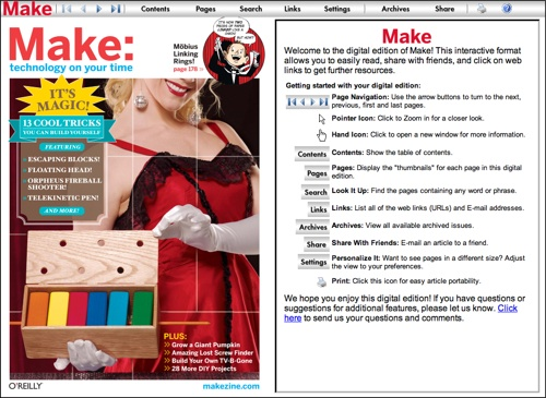 Updates to the MAKE digital edition