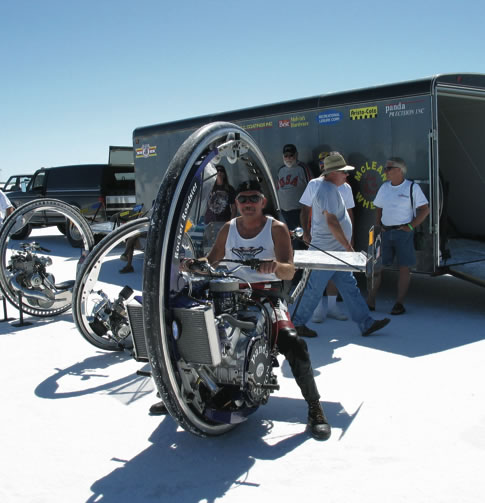 Maker of the day – Kerry McLean, 225-horsepower gasoline-powered monowheel