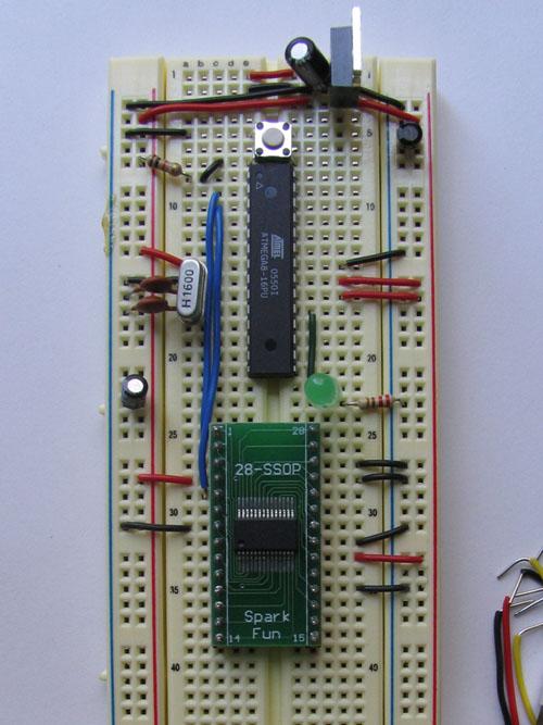 Arduino compatible breadboard
