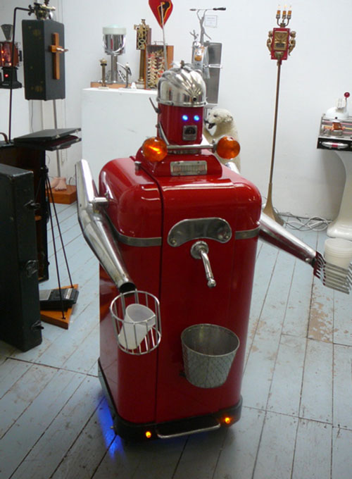 Beer pouring robot