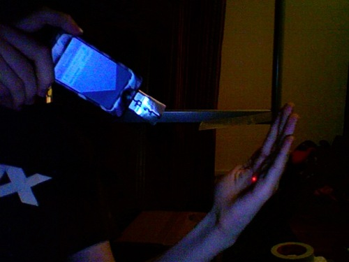 iPod laser pointer