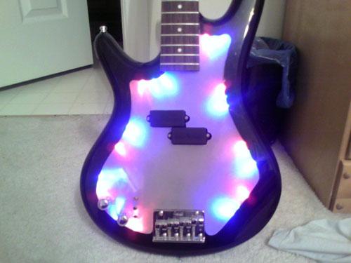 LED embedded guitar