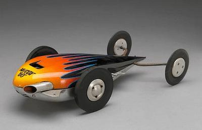 Tethered racing cars