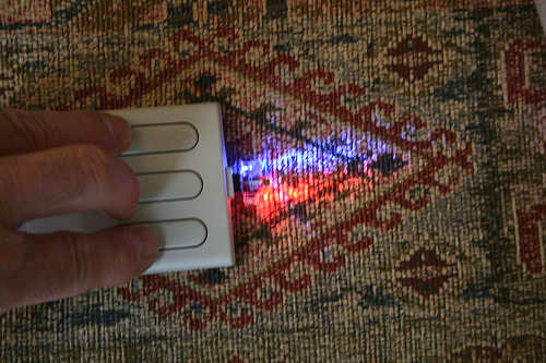 RGB light doodler from a 3-button mouse