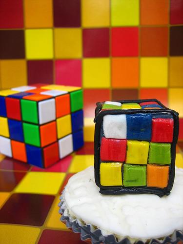 Rubik's Cube Cupcakes
