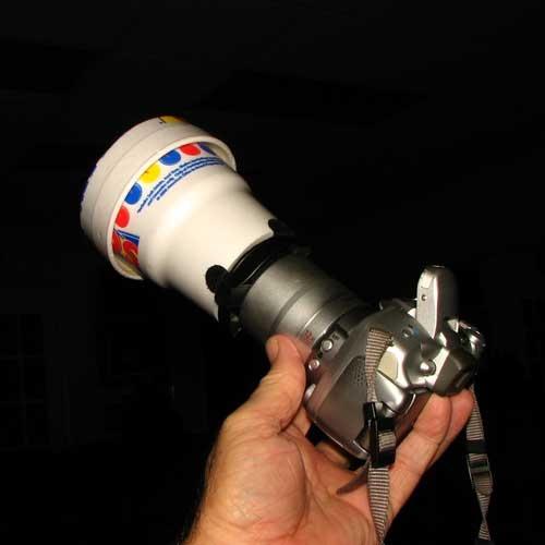 DIY Macro lighting using a styrofoam cup