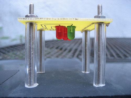 Giant LED VU meter @ the Maker faire