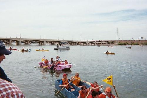 Cardboard boat race this weekend