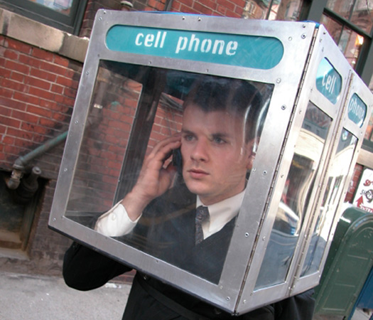 Portable cell phone booth makes you seem more old school