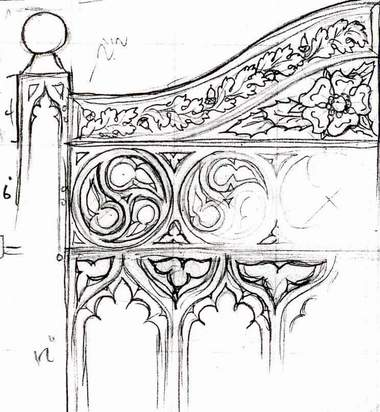 Hand-carved Gothic chairs