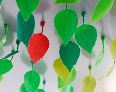 Magnetic leaves turn your house into a greenhouse