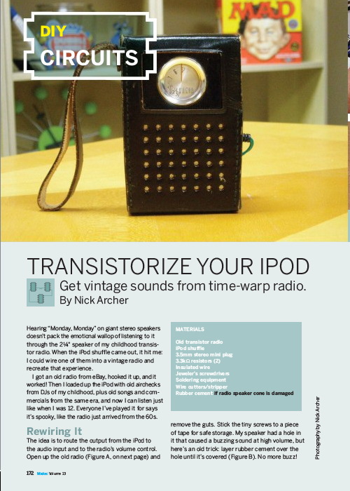 Weekend Project: Transistorize Your iPod (PDF)