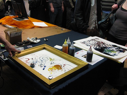 ITP show: Brushbots,  Paint Brushes with a mind of their own