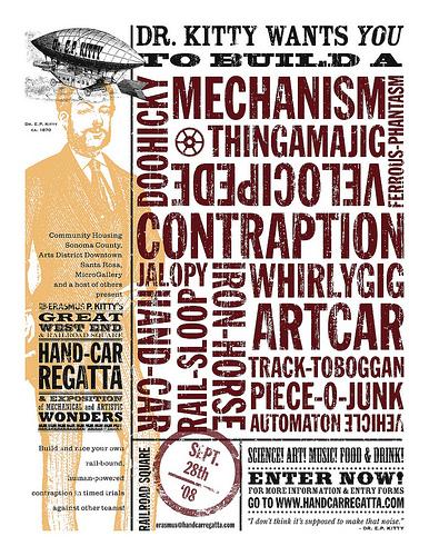 Hand-Car Regatta art-machine expo