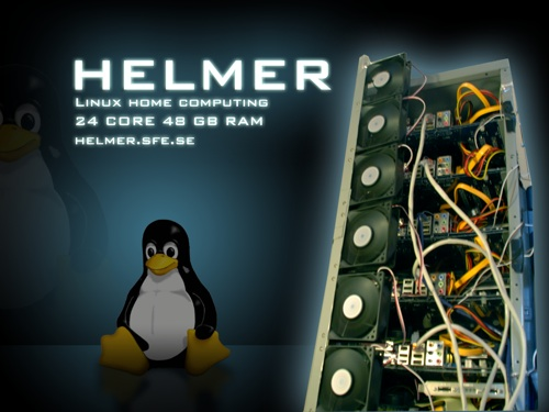 This is the story of Helmer. A linux cluster in a IKEA Helmer cabinet…