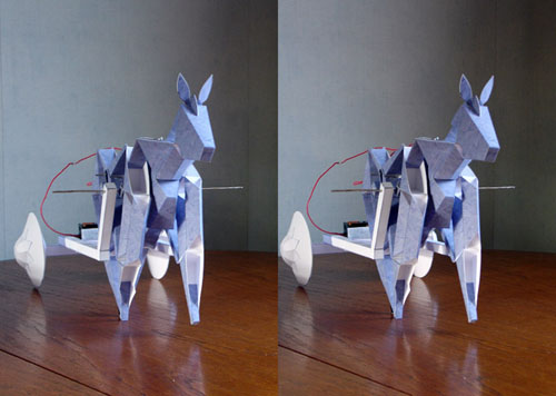 Battery powered paper horse
