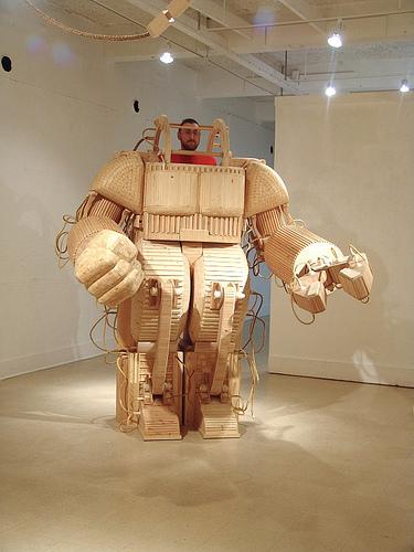 Wood mechatronic sculpture will give you a few splinters