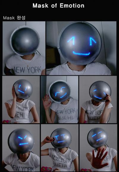 Emoticon mask will make you smile