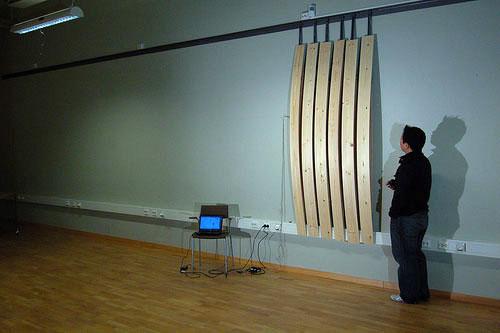 Visualizing Sound: Moving Planks