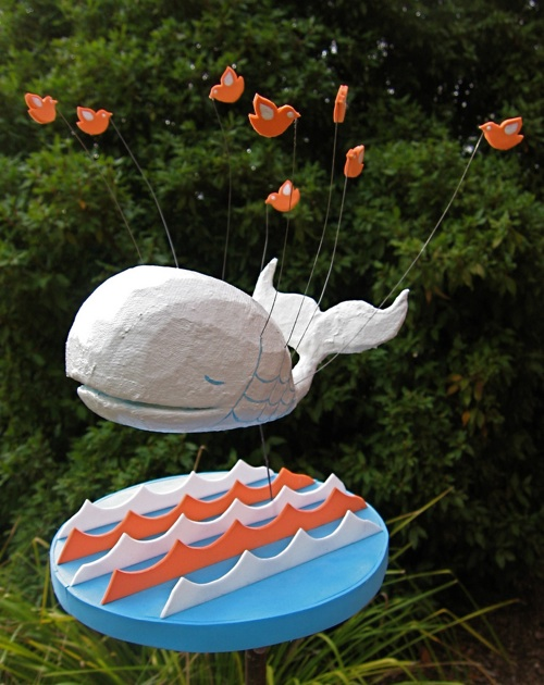 Twitter Fail whale… a 3D sculpture from the MAKE Flickr photo pool