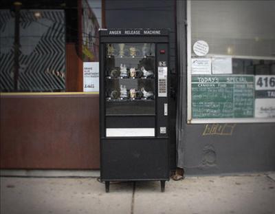 Vending machine provides release for anger