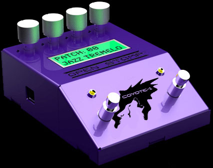 Programmable guitar effects pedal