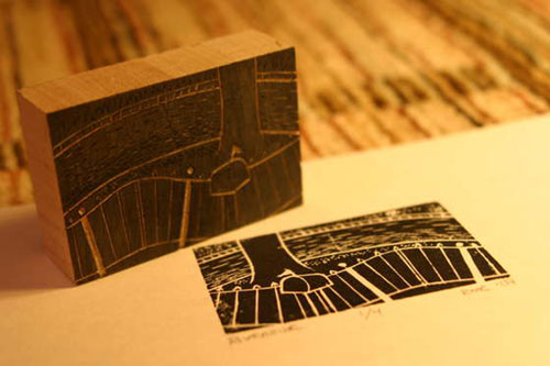 Learn how to make woodblock prints