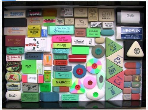Erasers! (really!)