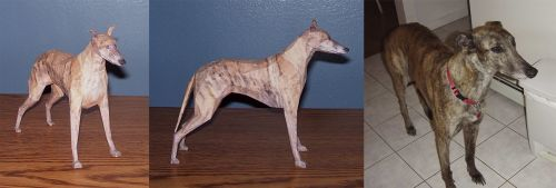 Papercraft greyhound