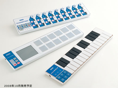 Conveniently sized MIDI controllers