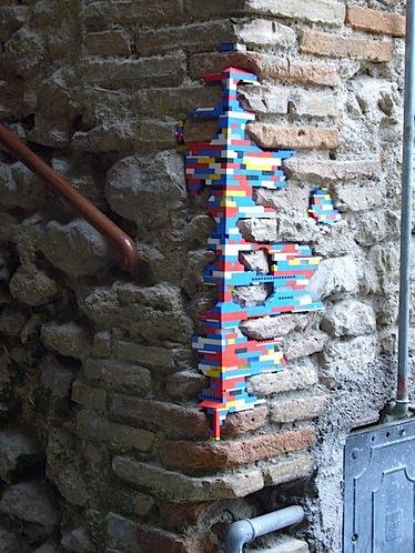 Lego wall augmentation graffiti