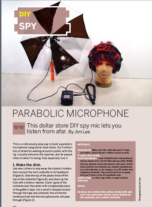 Weekend Project: Parabolic Microphone (PDF)