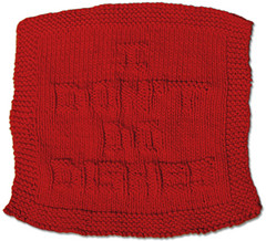 """HOW TO – Knit """"Embossed"""" Wash Cloths"""