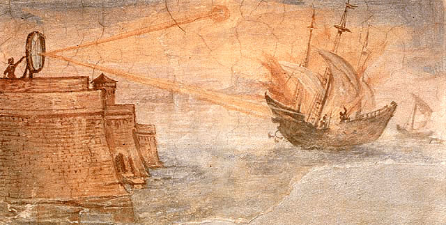 Help Mythbusters recreate Archimedes' death ray