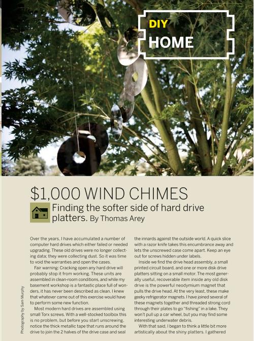 Weekend Project: Hard Drive Wind Chimes (PDF)