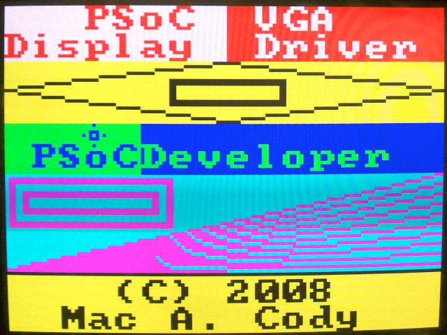 HOW TO – Drive a VGA display with A Cypress PSoC