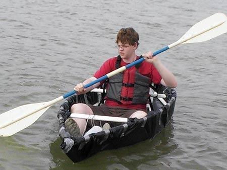 PVC Pipe & duct tape canoe