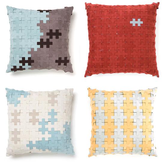 "Galya Rosenfeld: Reclaimed ""Puzzle"" Pillows"
