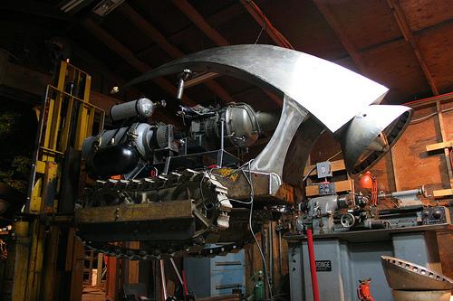 Jet turbine robot