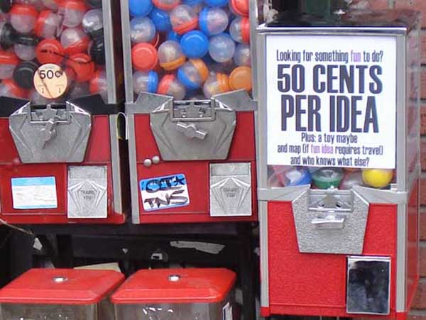 Idea Vending Machine