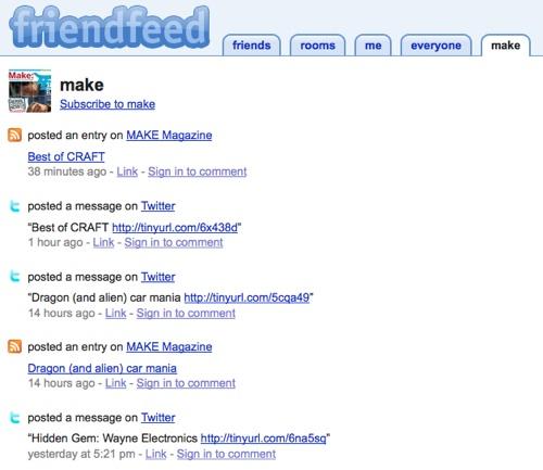 MAKE @ FriendFeed