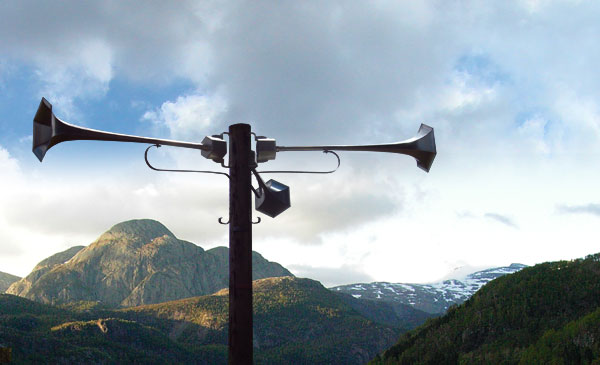 Hilltop speaker lets you project your voice from your cell phone throughout the land