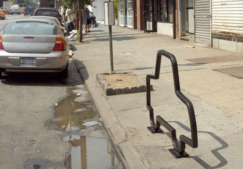NYC bike rack designs by David Byrne
